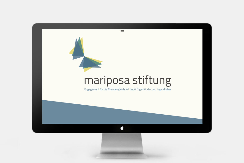 Webseite Mariposa Stiftung