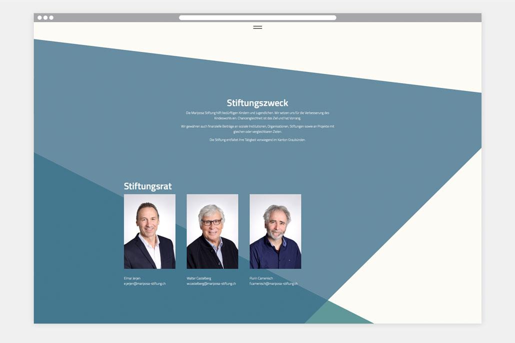 Webseite Mariposa Stiftung