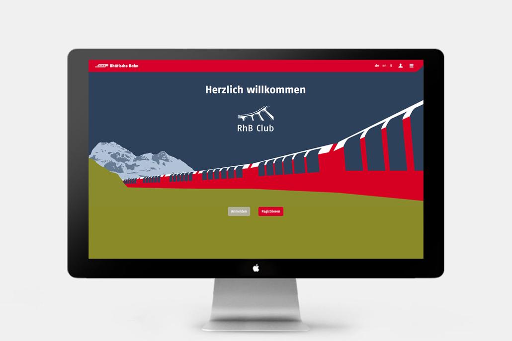 Webseitengestaltung RhB Club