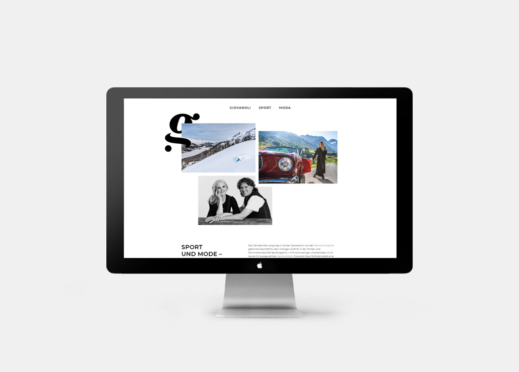Webseite Giovanoli Sport & Moda Sils - Home