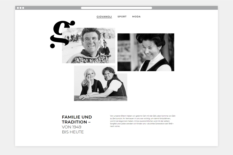 Giovanoli Sport & Moda Sils Webseite Folgeseite