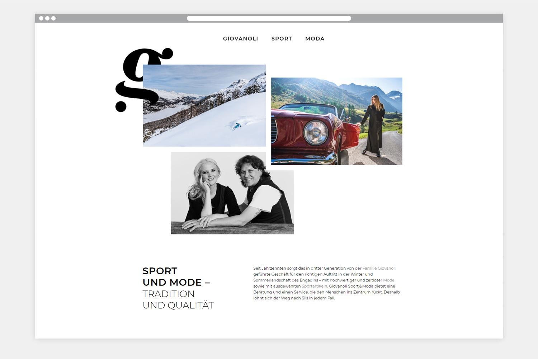 Giovanoli Sport Webseite Startseite