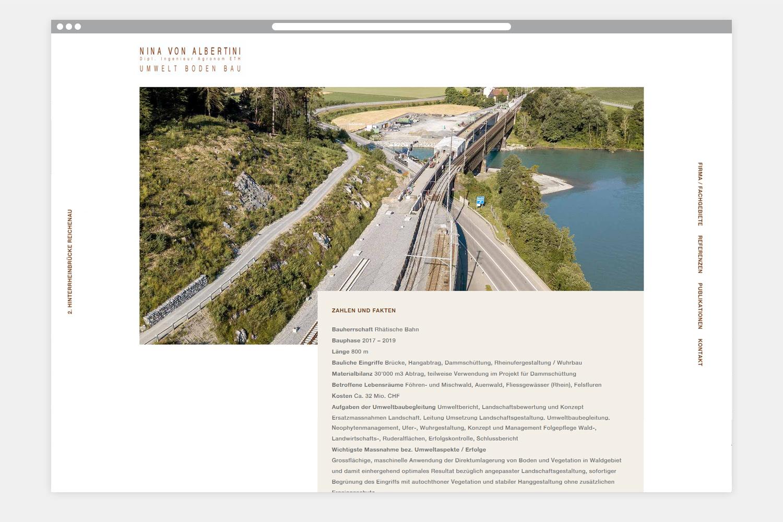 Webseite Nina von Albertini - Folgeseite 1