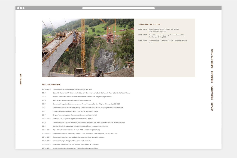 Webseite Nina von Albertini - Folgeseite 3