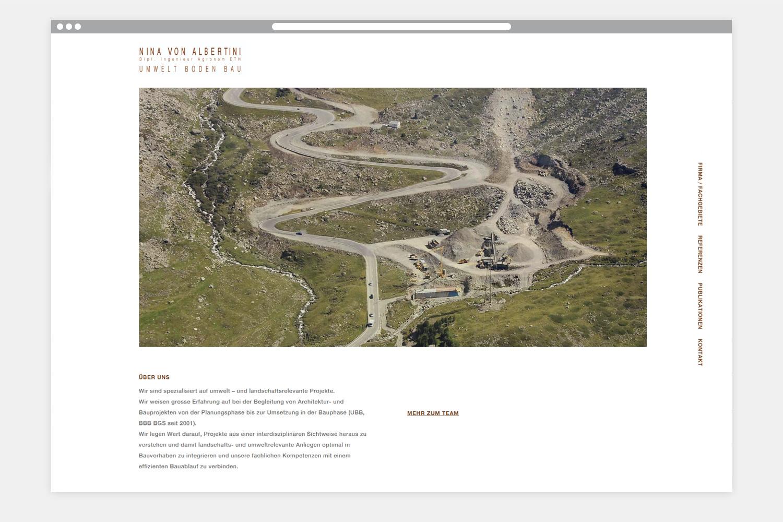 Nina von Albertini Webseite Startseite