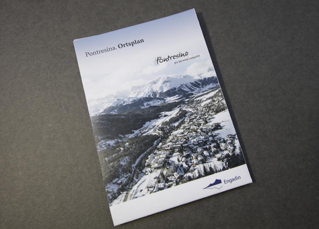 Pontresina Ortsplan - Bild 1