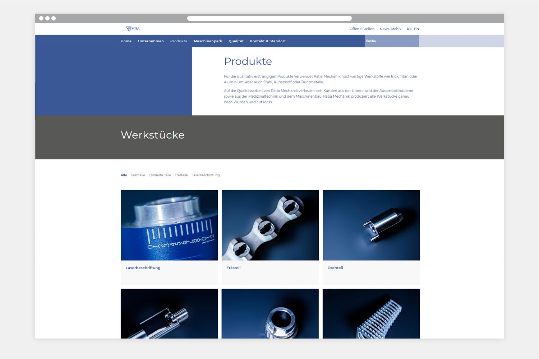 BC-TECH AG Webseite Folgeseite