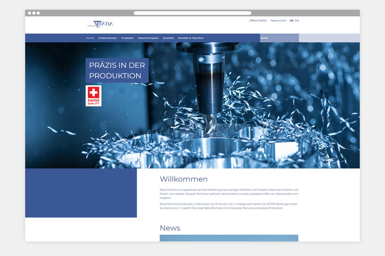 Rätia Mechanik Webseite Folgeseite