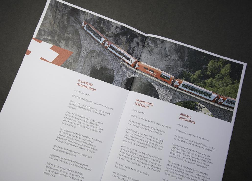 Speisekarte Glacier Express - Bild 2