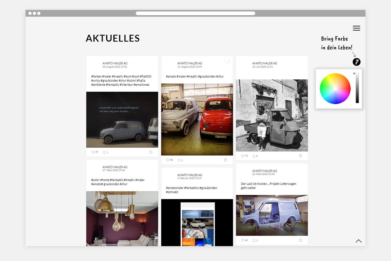 Amato Webseite Folgeseite