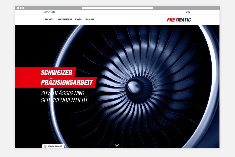 Freymatic Webseite Startseite