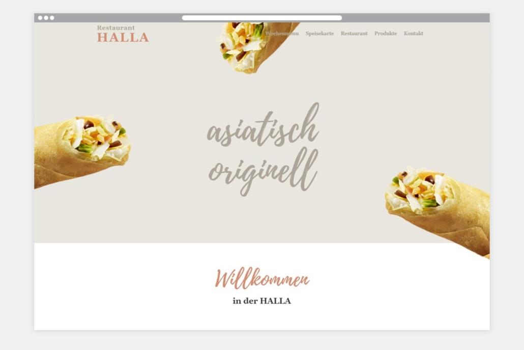 Restaurant Halla Webseite Startseite