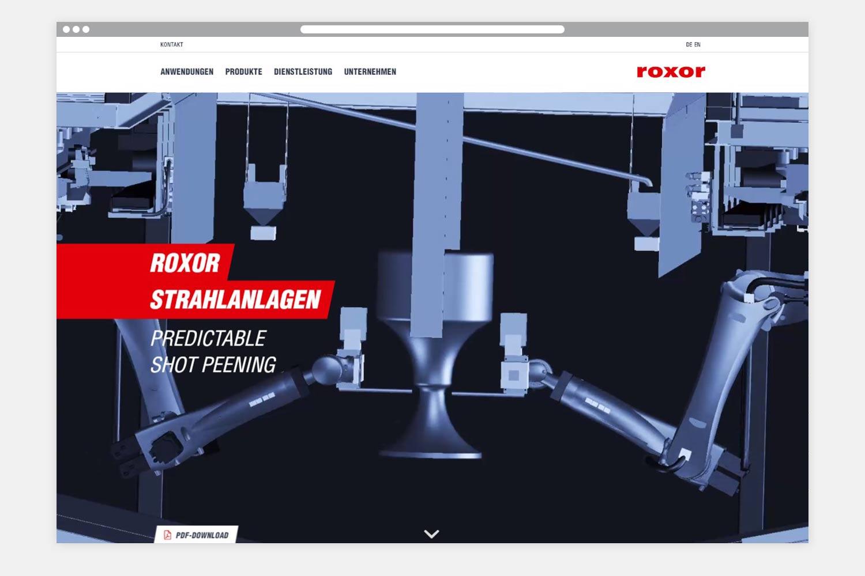Roxor Webseite Startseite