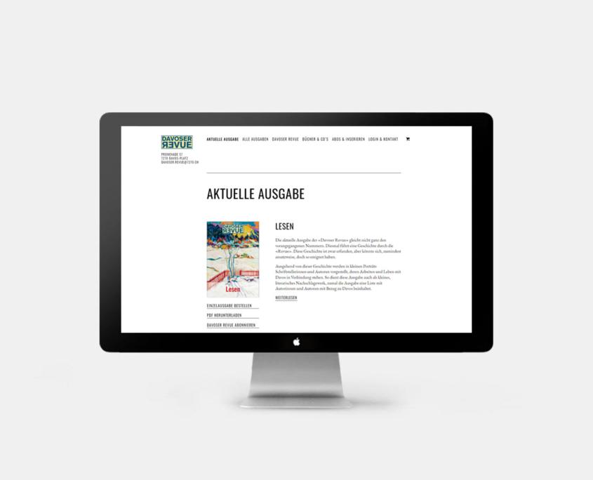 Webseite Davoser Revue - Startseite