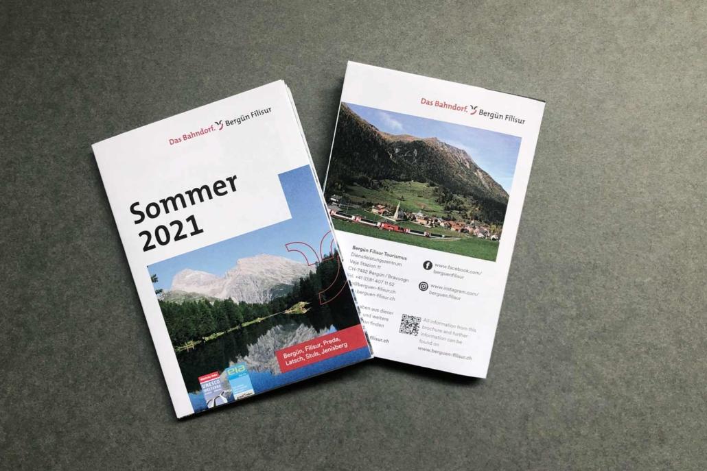 Bergün Faltkarte Sommer 2021
