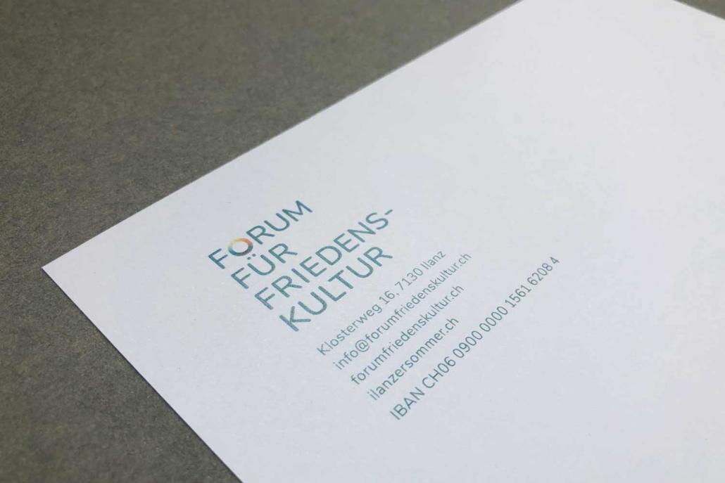 Forum für Friedenskultur - Briefkopf
