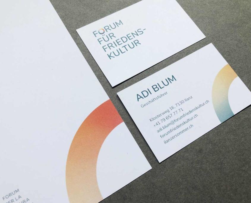 Forum für Friedenskultur - Visitenkarten