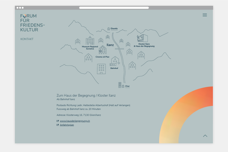 Forum für Friedenskultur - Webseite Anfahrtsplan