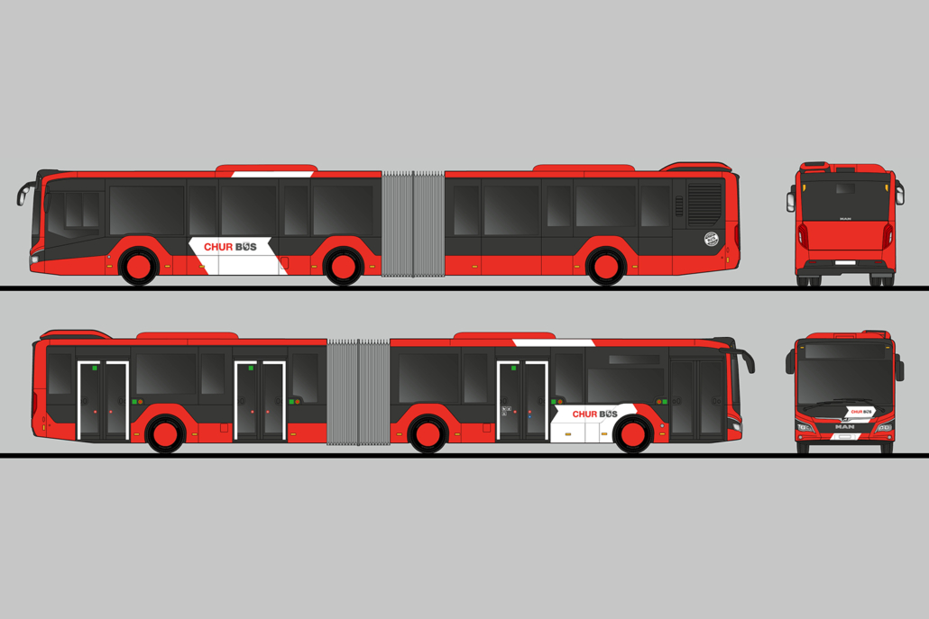 Chur Bus Beschriftung | technische Zeichnung