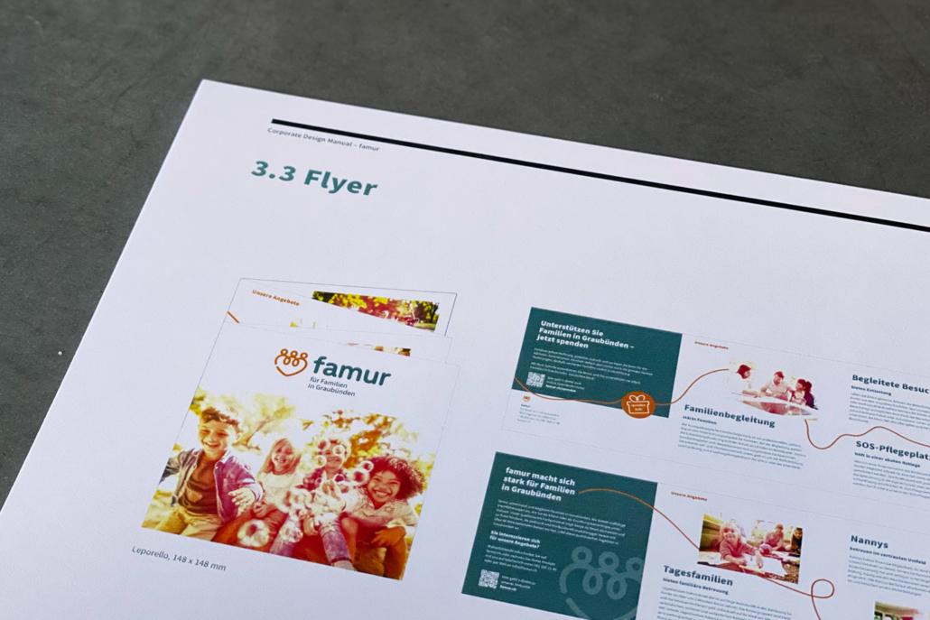 Corporate Design Manual famur | Flyer
