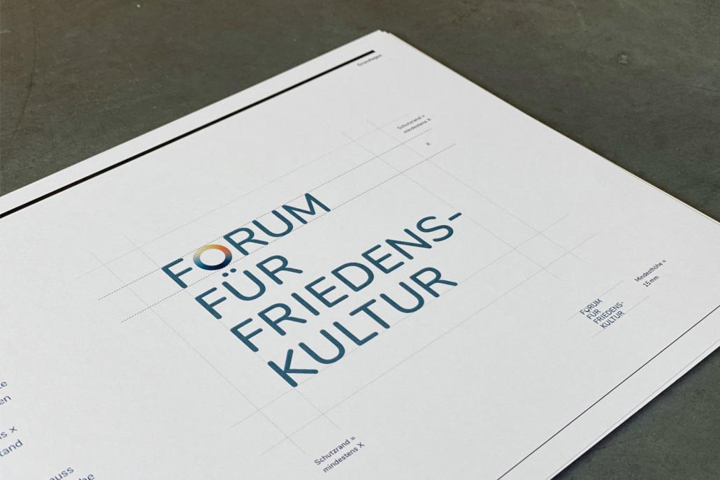 Corporate Design Manual Forum für Friedenskultur | Logo